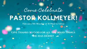 Pastor Kollmeyer's Retirement Celebration