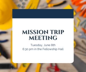 Mission Trip Meeting