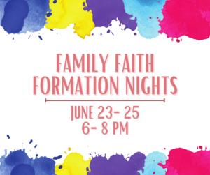 Family Faith Formation Nights